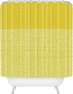 "Deny Designs Jacqueline Moldonado Riverside Yellow Shower Curtain, 72"" x 69"""