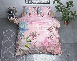 SLEEP TIME Housse De Couette Coton, Housse de Couette d ete, Multicolore, Angela, 220cm x 240cm, avec 2 taie d'oreiller 60...