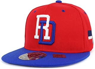 Dominican Republic 3D Embroidered Flatbill Snapback Cap Flag