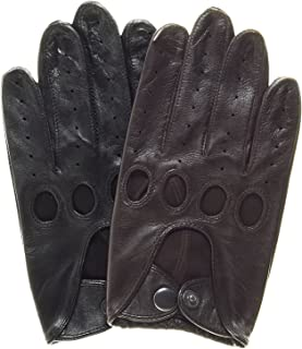 Touchscreen Leather Driving Gloves