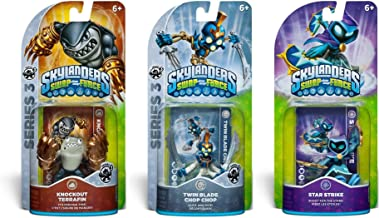 Skylander SWAP force 3-Pack: Knockout Terrafin, Twin Blade Chop Chop and Star Strike (SWAP-able) - Series 2 & 3 Action Figures