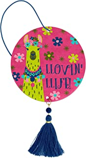Karma Gifts Lovin Life Llama Floral 3.5 x 3 Inch Vanilla Scented Air Freshener 2 Pack