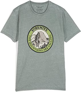 Lucky Brand Men's Short Sleeve Crew Neck Yosemite Circle Tee Shirt