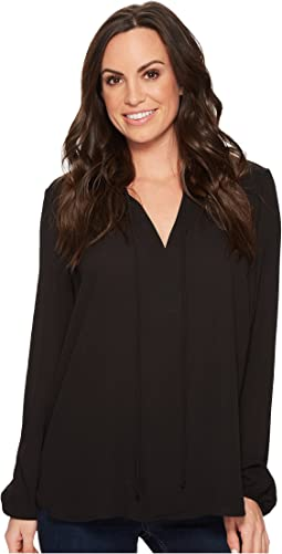 Stetson 1494 Poly Crepe Shirred Blouse