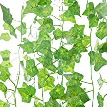 Naidiler 84 Ft 12 Strands Fake Ivy Leaves Artificial Ivy Garland Greenery Decor Faux..