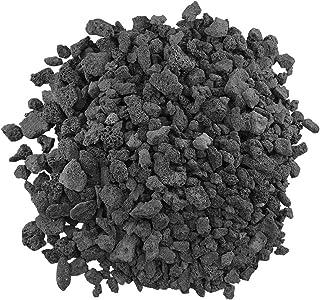 American Fireglass LAVA-M-10 American Fire Glass Medium Sized Black Lava Rock – Porous,..