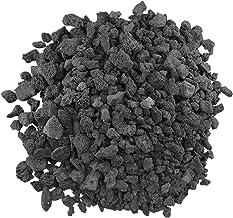 American Fireglass LAVA-M-10 American Fire Glass Medium Sized Black Lava Rock – Porous, All-Natural, 1/2 Inch to 1 Inch Th...