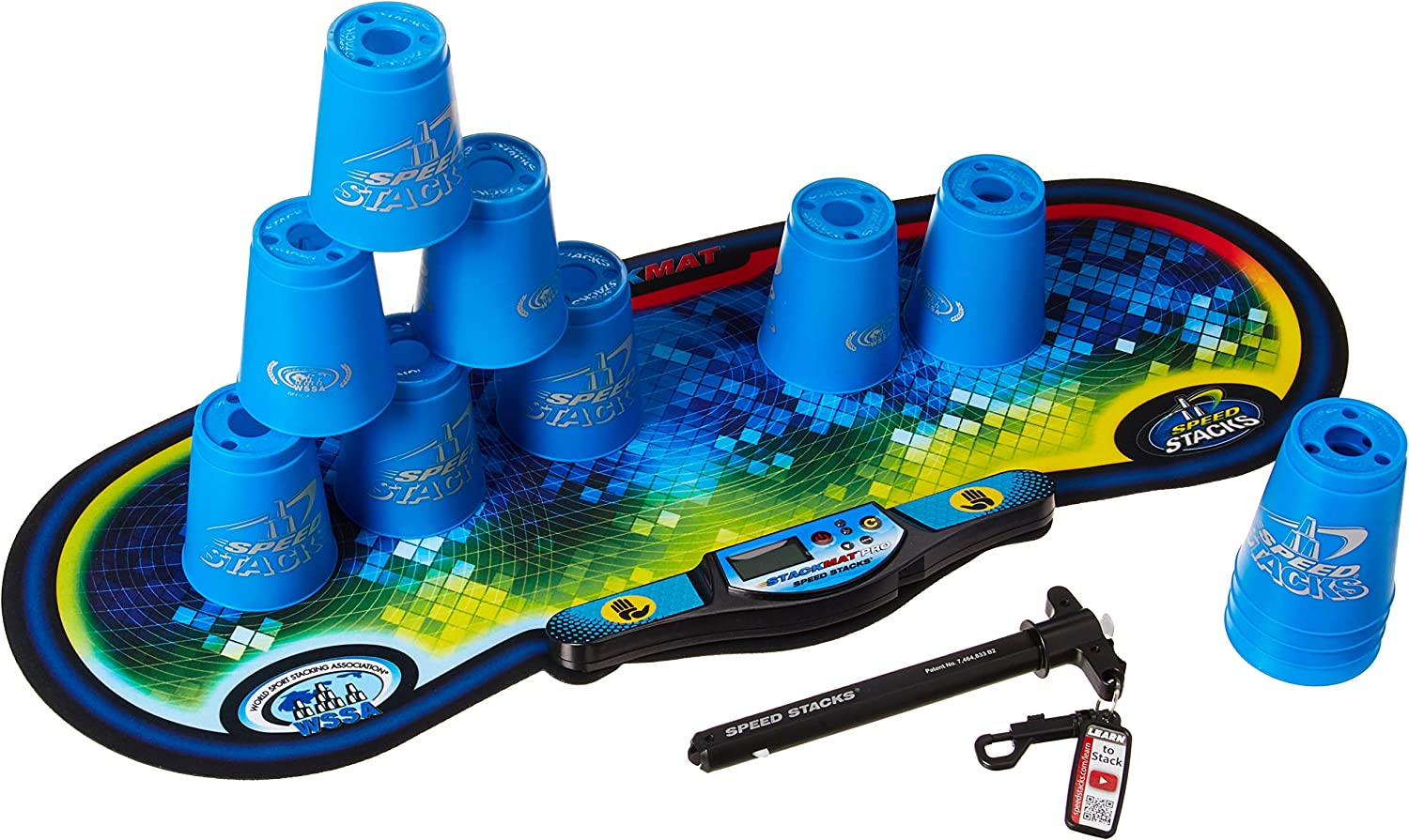 Ranking TOP2 Speed Stacks Competitor - Fashion Cool Blue Voxel w Mat Glow