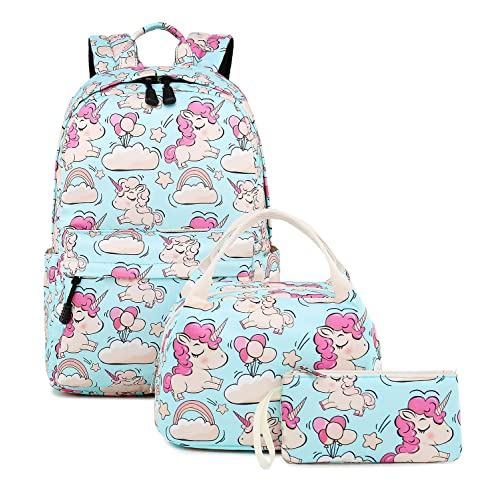 04ef82eac4c0 Abshoo Cute Lightweight Unicorn Backpacks with Lunch Box for Girls School  Bags Kids Bookbags (Unicorn