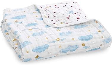 aden + anais Harry Potter™ Baby Dream Blanket|Girl & Boy Metallic Muslin Throw Blanket|Lightweight & Breathable, Ideal Newborn, Toddler & Nursery Crib Bedding, Unisex Infant Shower Items, Snitch Dot