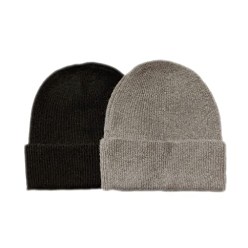 01938223dd672c Meesty 2 Pack Warm Winter Soft Wool Alpaca Mix Beanie Hat Cap for Women and  Men