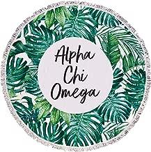 Sorority Shop Alpha Chi Omega - Palm Leaf - Fringe Towel - Blanket