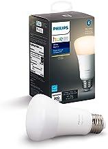Philips Hue White A19 Lámpara inteligente LED,  Compatible con Bluetooth y Zigbee, E26, 10 W, 60 W, 800  lúmenes, Luz suave