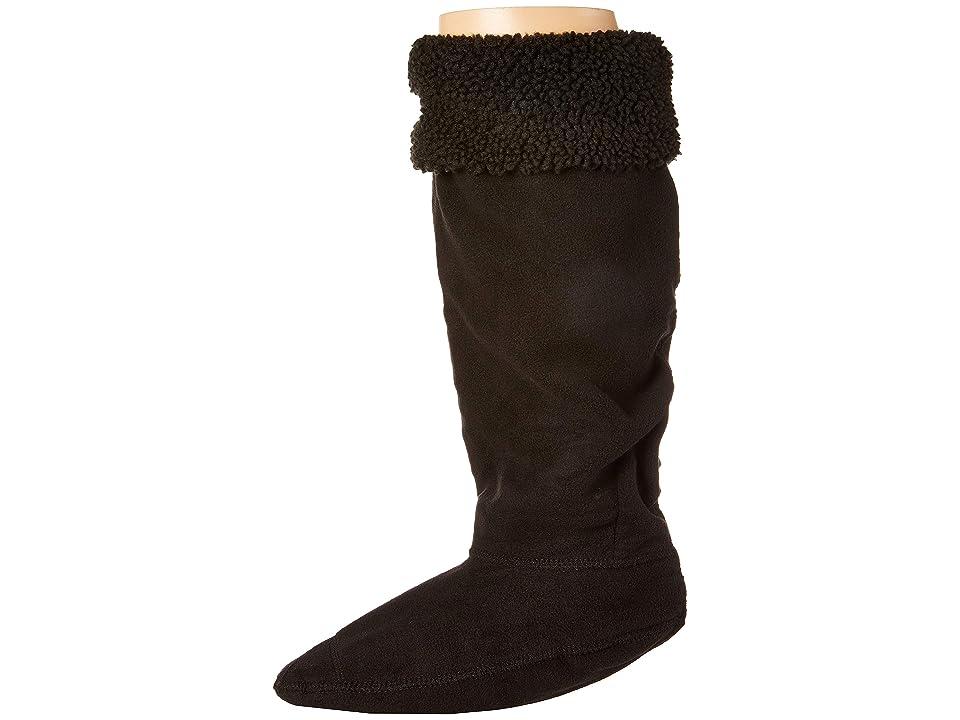Hunter Original Tall Boot Sock Sheepy Cuff (Black) Crew Cut Socks Shoes