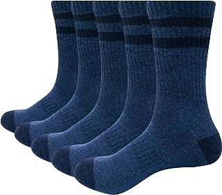 YUEDGE 靴下 メンズ ソックス 5足組 アウトドア ウェア トレッキング 登山用 靴下 通気 抗菌 綿 作業用 メンズ スポーツ 靴下