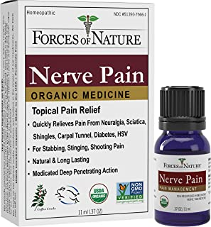 Forces of Nature | Nerve Pain Management | 11ml (Pack Of 1) | Certified Organic + Vegan + Gluten Free + All Natural