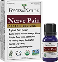 Forces of Nature -Natural, Organic Nerve Pain Relief (11ml) Non GMO, No Harmful Chemicals –Fast Acting Anti-Inflammatory Relief for Pain Associated with Sciatica, Diabetes, Shingles, Neuropathy