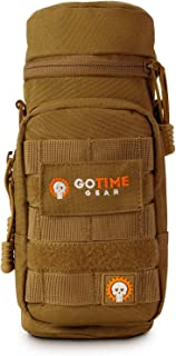 Go Time Gear Exo-Tek H2O MOLLE Water Bottle Pouch Hydration Carrier – Use as MOLLE Water Bottle Holder, Tactical Water Pouch, Hydration Carrier – Fits Up to 40 oz. Wide-Mouth Bottles