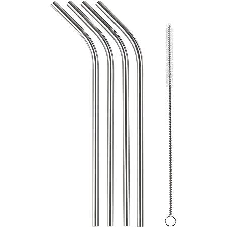 和平フレイズ ステンレスストロー クールブレイク 6mm 4本セット 繰り返し使える 洗浄ブラシ付 RE-7151