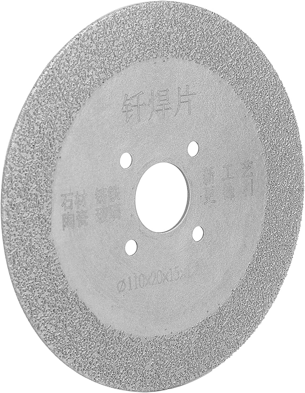 Hoja de sierra de diamante Hoja de corte pulidora redonda Disco abrasivo de corte de soldadura fuerte para mármol de cerámica(110*20*15mm)