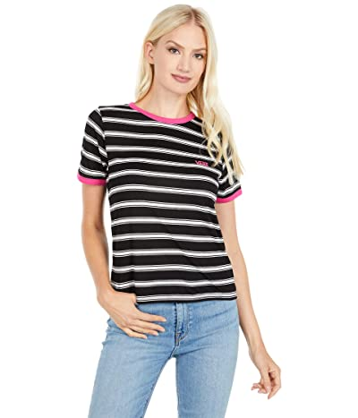 Vans Lee Suh Stripe Short Sleeve Tee (Black/White) Women