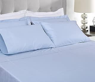 Threadmill Home Linen 400 Thread Count 100% Extra-Long Staple Cotton Sheet Set,Twin XL Sheets, Luxury Bedding, Twin XL Sheets 3 Piece Set,Smooth Sateen Weave,Blue