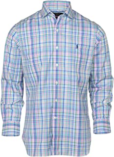 RALPH LAUREN Polo Men's Slim Fit Easy Care Spread Collar Pony Logo Dress Shirt