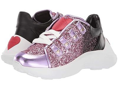 LOVE Moschino Super Heart Sneaker (Fantasy Color Pink) Women
