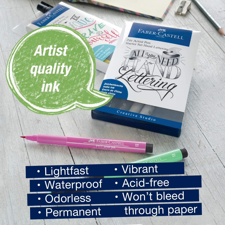 Faber-Castell 267118 - Estuche con 9 Pitt Artist Pen Hand ...