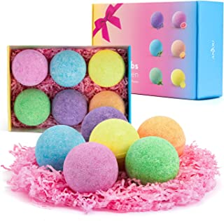 Anjou Bath Bombs, 6 Pack Fizzies Spa Gift Set Pure Natural Essential Oils Bubble Bath for Moisturizing Dry Skin, Spa Bath ...