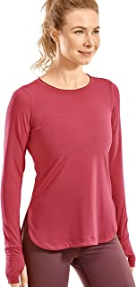 CRZ YOGA Women's Sports Shirt Workout Long Sleeve Top with Thumbholes