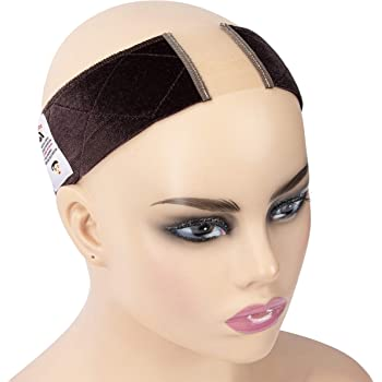 GEX Beauty Lace Velvet Wig Grip Band for Lace Wigs Non Slip Adjustable Breathable Flexible Head Hair Band Frontal with Swiss Lace to Keep Wigs Secured and Prevent Headaches (Dark Brown)