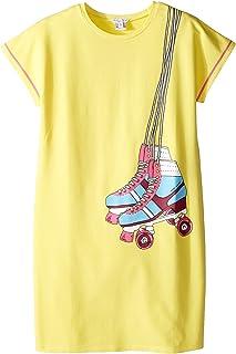 [マークジェイコブス] Little Marc Jacobs レディース Essential Jersey Dress (Big Kids) ドレス Medium Yellow 12 (Big Kids) [並行輸入品]