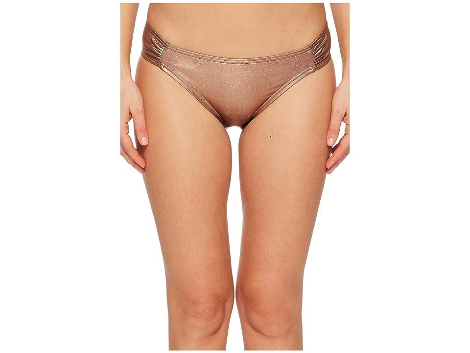 Kate Spade New York Stinson Beach #71 Side Shirred Bikini Bottom (Rose Gold) Women