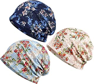 Lace Beanies Chemo Caps Cancer Headwear Skull Cap Knitted hat Scarf for Womens