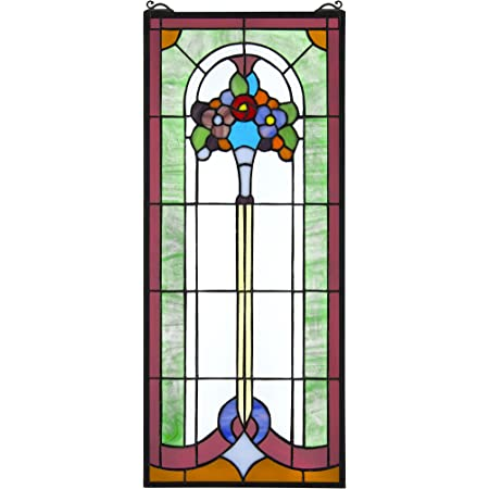 Stained Glass Panel Butterfly Ballet Stained Glass Window Hangings Window Treatments