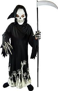 Spooktacular Creations Kids Grim Reaper Glow in The Dark Deluxe Phantom Costume Black