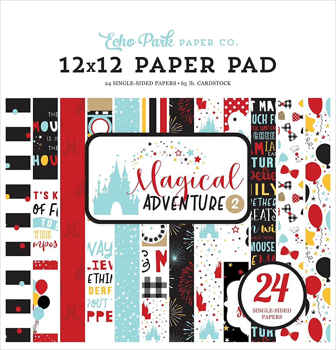 Echo Park Paper Company MAG177030 Magical Adventure 2 12X12 Pad Paper Black, red, Yellow, Teal, Kraft