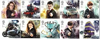 Harry Potter Set of 10 Royal Mail Postage Stamps 2018