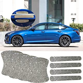 4pcs Bling Car Door Handle Cup Paint Scratch Protector Covers with 4pcs Bling Car Door Handle Scratch Protector, Protector Cover Exterior Accessories for Cars Body Trim Safety Reflective Sticker.