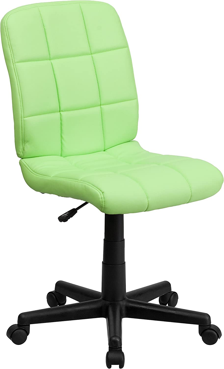 Flash Furniture Mid-Back Green Quilted Vinyl Task Chair