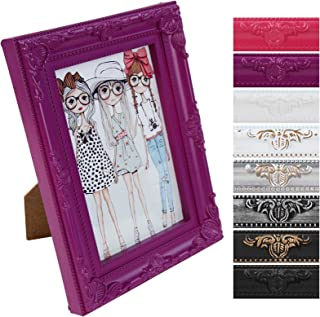 Jago - Marco para fotos clásico aprox. 23 x 18 x 2 cm en color morado