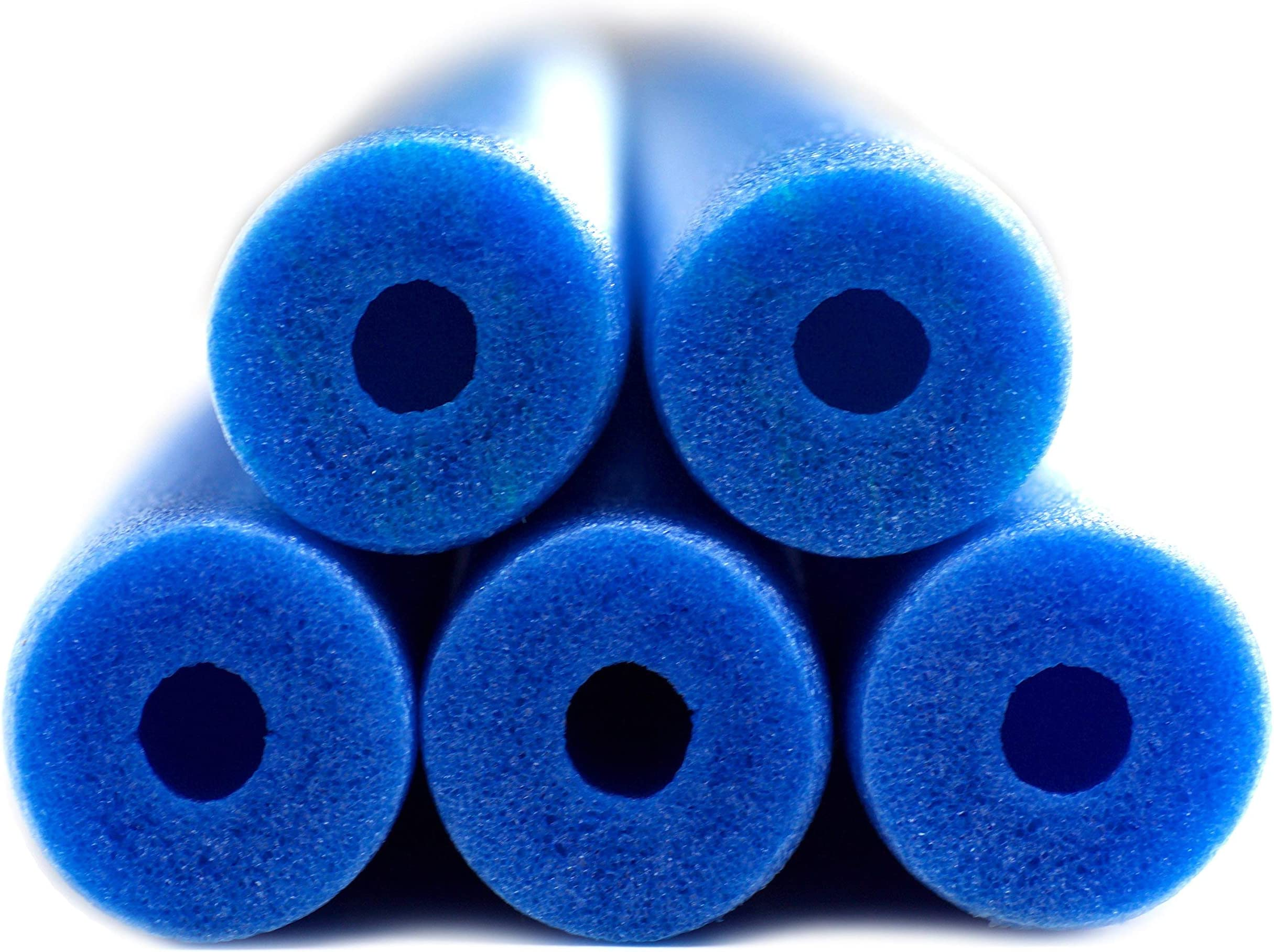Fix Find - Pool Noodles - 5 Pack of 52 Inch Hollow Foam Pool Swim Noodles | Blue Foam Noodles