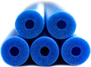 Fix Find - Pool Noodles - 5 Pack of 48 Inch Hollow Foam Pool Swim Noodles | Blue Foam Noodles