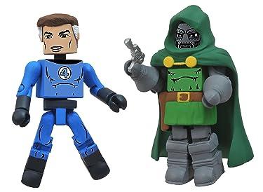 Diamond Select Toys Marvel Minimates Best of Series 2: Mr. Fantastic and Doctor Doom, 2-Pack