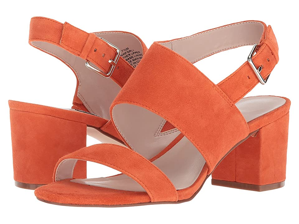 Nine West Forli Block Heel Sandal (Orange Suede) Women