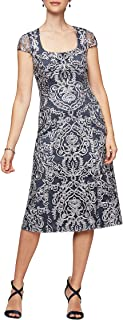 Alex Evenings Women's Short Embroidered Dresses-Discontinued