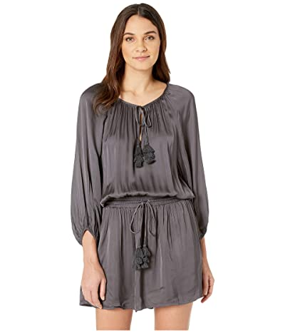 Young Fabulous & Broke Junia Dress (Black/Sand Solid) Women