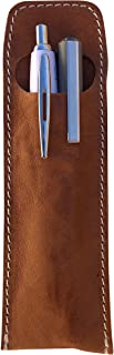 CG - Talento Fiorentino, astuccio contenitore porta penne, custodia porta matite in vera pelle effetto stropicciato vintag...
