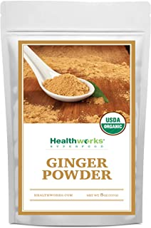 Healthworks Ginger Powder (8 Ounces) | Ground | Raw | All-Natural & Certified Organic | Keto, Vegan & Non-GMO | Great with...